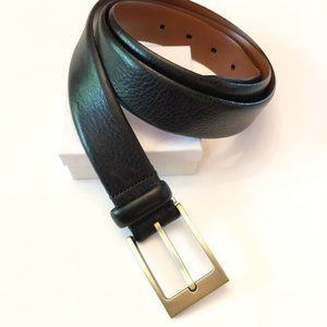 Italian Leather Black Belt Made In Italy Size 44